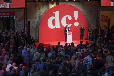 Foto: Andrea Nahles spricht beim SPD-Debattencamp