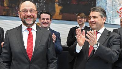 Foto: Martin Schulz und Sigmar Gabriel