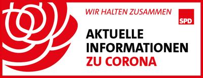 Banner: Aktuelle Informationen zu Corona