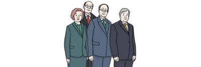 Bild von Politikern aus verschiedenen Ländern von Europa