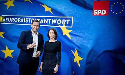 Foto: Lars Klingbeil und Katarina Barley