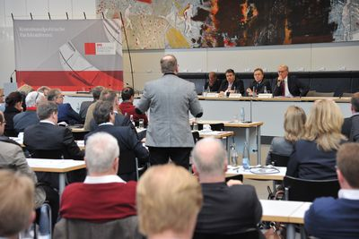 Foto: Blick ins Plenum der 3. SPD-Kommunalkonferenz am 25. Februar 2016