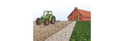 Bild zeigt Land-Wirt und Bauernhof