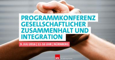 Foto: Programmkonferenz Gesellschaftlicher Zusammenhalt und Integration