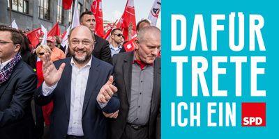 Symbolfoto mit Martin Schulz - Dafür trete ich ein