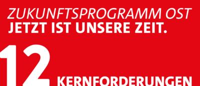 Grafik: 12 Kernforderungen Zukunftsprogramm Ost