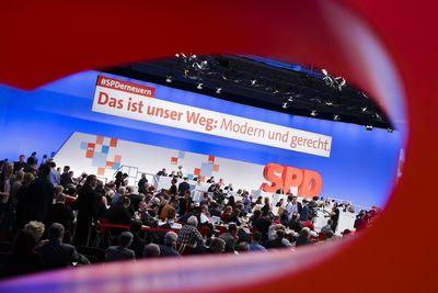 Foto: Blick in das Plenum des SPD-Parteitags