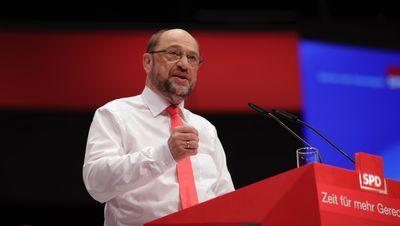 Foto: Rede des Parteivorsitzenden Martin Schulz beim Bundesparteitag in Dortmund