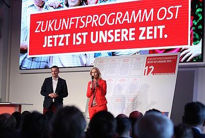 Foto: Martin Dulig und Manuela Schwesig stellen das Zukunftsprogramm Ost vor