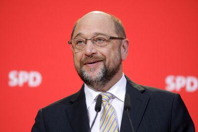 Foto: Martin Schulz bei einer Pressekonferenz