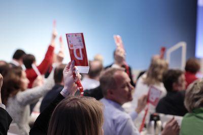 Foto: Delegiertenabstimmung