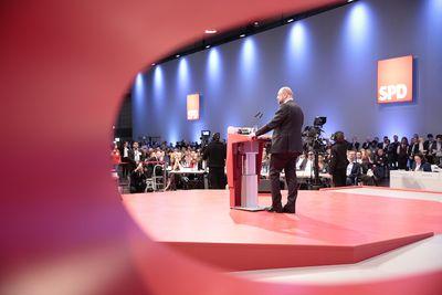 Foto: Martin Schulz redet beim SPD-Bundesparteitag