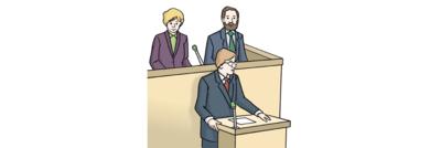 Bild zeigt Politiker im Parlament