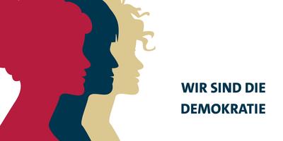 """Symbolfoto zum Internationalen Frauentag: """"Wir sind die Demokratie"""""""