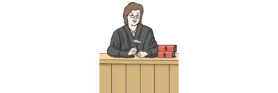 Bild zeigt eine Richterin im Gericht