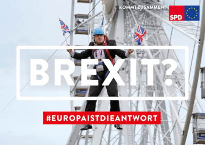 Symbolplakat zum Brexit