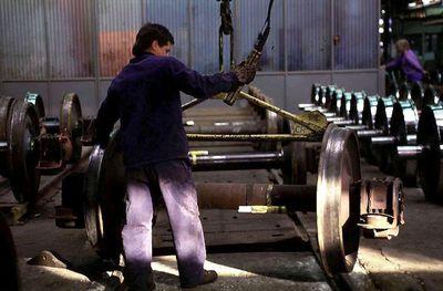Bild: Arbeiter im Stahlwerk