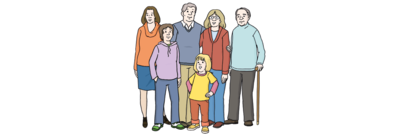 Bild zeigt verschiedene Menschen aus Europa