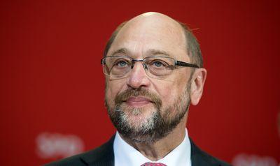 Foto: Martin Schulz während einer Pressekonferenz