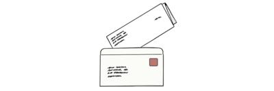 Bild von einem Stimm-Zettel von einer Brief-Wahl