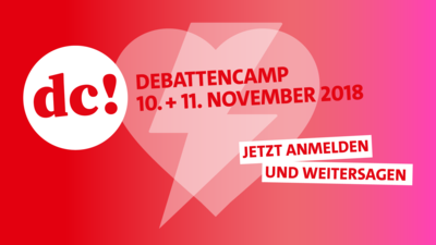 Grafik 1. SPD-Debattencamp - Save the date