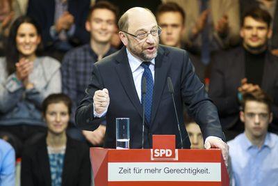 Foto: Martin Schulz während seiner Rede