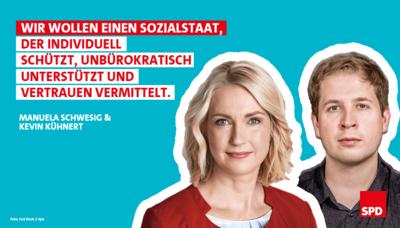 Bildkombo: Manuela Schwesig und Kevin Kühnert