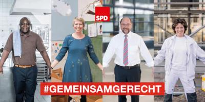 "Kampagnenfoto zur 1. Mai-Fotoaktion ""gemeinsamgerecht"""