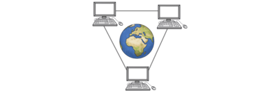 Bild zeigt Firmen, die mit dem Internet Geld verdienen