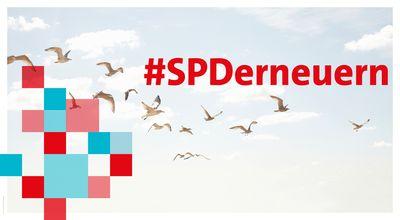 Bild mit Typo: #SPDerneuern