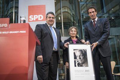 Ausgezeichnet: Preisträgerin Ágnes Heller im Willy-Brandt-Haus (Foto: Dominik Butzmann)