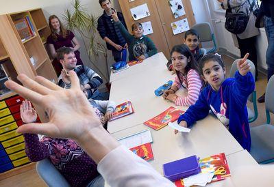 Eine Willkommensklasse. Hier lernen Flüchtlinge die deutsche Sprache. (Foto:dpa)