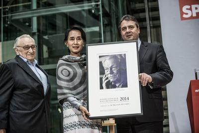 Foto von der Preisverleihung des internationalen Willy-Brandt-Preises