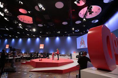 Foto: Malu Dreyer spricht beim SPD-Bundesparteitag