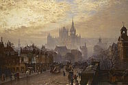 Foto: John O'Connor, St. Pancras, from Pentonville looking west, evening, 1884, London
