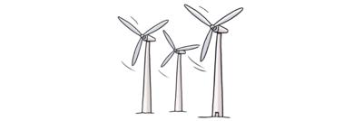 Bild zeigt Wind-Räder