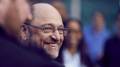 Foto: Martin Schulz im Gespräch