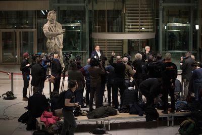 Foto: Statement von Lars Klingbeil im Willy-Brandt-Haus